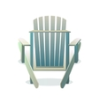 Adirondack wooden chair from the back vector image vector image