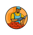 african american bricklayer mascot vector image vector image