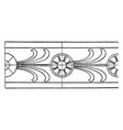 antique rosette band has a double line border vector image