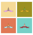 assembly flat icons school bell vector image vector image