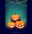 autumn halloween party vector image vector image