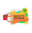 back to school sale dynamic style banner design vector image vector image