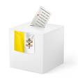 Ballot box with voting paper Vatican City vector image vector image