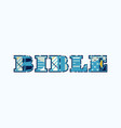 bible concept word art vector image vector image