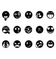 black face icons vector image vector image