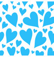 blue hearts seamless patter vector image vector image