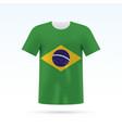 brasil flag t-shirt vector image vector image