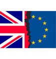 brexit picture two parts of flags vector image
