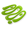 burger wasabi icon cartoon style vector image vector image
