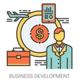 Business development line icons vector image vector image