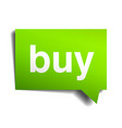 buy green 3d realistic paper speech bubble vector image vector image