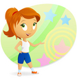 cartoon sports girl vector image vector image