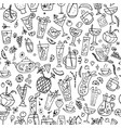 cocktails collection seamless pattern for your vector image vector image