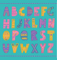 colorful hand drawn tribal font vector image vector image