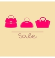 Colorful handbags with sale vector image vector image