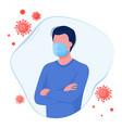 coronavirus epidemic disease infection defense vector image