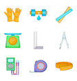 cultivation icons set cartoon style vector image vector image