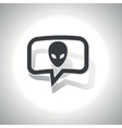 Curved alien message icon vector image vector image