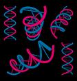 dna symbols set vector image vector image