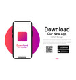 download our app advertising banner phone mockup
