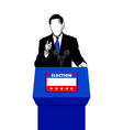 Election campaign speech vector image