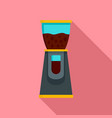 electric coffee grinder icon flat style vector image