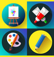 fine arts icon set in black vector image vector image
