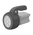 flashlighttent single icon in monochrome style vector image vector image