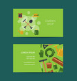 flat gardening icons business card vector image vector image