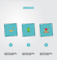 flat icons minaret malay genie and other vector image vector image