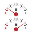 gas tank indicator icon vector image vector image