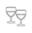 glasses for wine icons vector image vector image
