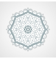 Gray Round Floral Ornament vector image