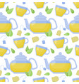 green tea seamless pattern vector image