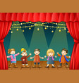 group of children singing o vector image vector image