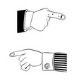 hand in office suit vector image vector image