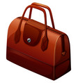 hangbag in brown color vector image vector image