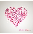 heart from gentle rose petals vector image