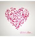 heart from gentle rose petals vector image vector image