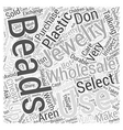 how to select jewelry wholesale beads dlvy vector image vector image