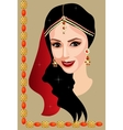 Indian woman with jewelry vector image