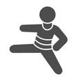 judo sportsman solid icon self defense concept vector image vector image