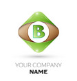 letter b logo symbol on colorful rhombus vector image vector image