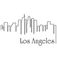 Los angeles city one line drawing