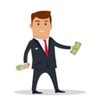 Man Character With Money vector image vector image