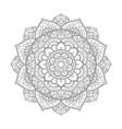 mandala round pattern vector image vector image