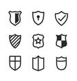 medieval shield symbols or icons set nine vector image vector image