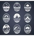 Mountain badge set2 white vector image vector image