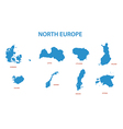 north europe - maps of territories vector image