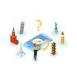 popular travel destination - modern colorful vector image vector image